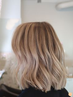 Balayage in a blonde hair - Peach Stockholm - Balayage in a blonde hair – Pea. Balayage in a blonde hair - Peach Stockholm - Balayage in a blonde hair – Peach Stockholm - hair Medium Thin Hair, Short Thin Hair, Medium Hair Styles, Short Hair Styles, Short Cuts, Mens Hairstyles Thin Hair, Oval Face Hairstyles, Bride Hairstyles, Blonde Long Bob Hairstyles