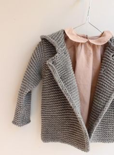 Peach shirt and knitted jacket by Baby Line - Pigve