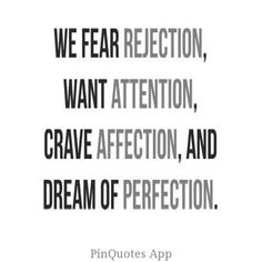 insecurity fear rejection