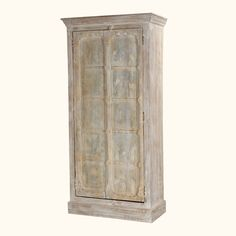 """We were inspired by the pristine beauty of new fallen snow when we created our Winter's Dream 76"""" Armoire Cabinet.  This freestanding wardrobe is as big as a closet, but you can move it from room to room.  The armoire stands on a simple frame base.  The two doors open onto a large four shelf storage cabinet."""