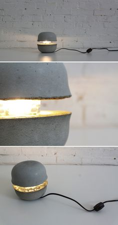 You can use everyday cereal bowls to cast this concrete lamp. Check out the website for instructions: http://www.homemade-modern.com/ep37-concrete-bowl-lamp/