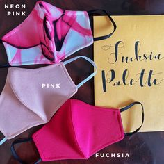 Excited to share this item from my shop: Fuchsia Masks palette – Handmade 3 Pack mask Pink Palette, Festival Looks, Kids Store, Fashion Face Mask, Everyday Look, Snug, Pattern Design, Masks, Etsy Shop