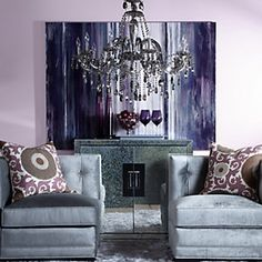 Refined Grace with aubergine accents.