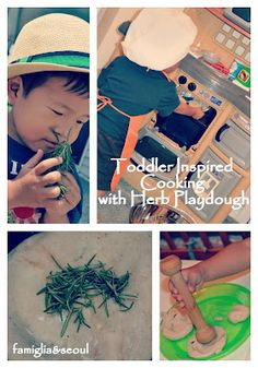 famiglia: Toddler Inspired Cooking with Herb Playdough ~ let them make their own creations in the kitchen!