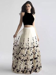 Off White And Black Net Festival Embroidered Lehenga Buy Designer Collection Online : Call/ WhatsApp us on : Indian Designer Outfits, Indian Outfits, Designer Dresses, Lehenga Skirt, Lehnga Dress, Net Lehenga, Kids Lehenga, Saree, Black Lehenga
