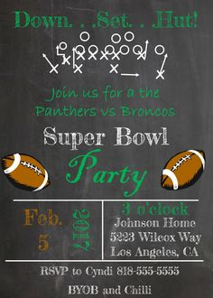 Superbowl Invitations Super Bowl Party Invitations Pinterest