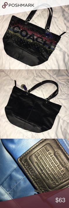 Authentic COACH bag Super cute fun bag used only two times in really good condition Authentic Coach Bags Totes