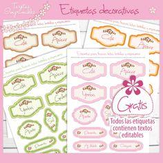 etiquetas para frascos gratis #etiquetas #stickers #shabby chic #imprimir gratis