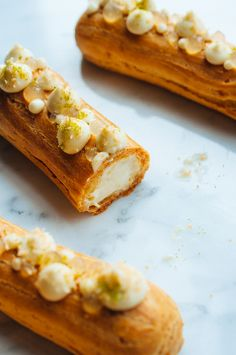 Coconut and Lime Eclairs | hint of vanilla