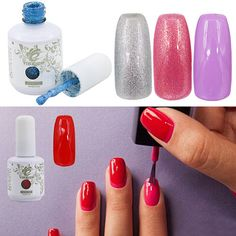 15ML SOAK OFF GLITTER COLORED GEL POLISH UV LED LAMP GORGEOUS MANICURE NAIL #bodhi2000szuk