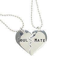 HOTTOPIC.COM - LOVEsick Soul Mate Heart Necklace Set