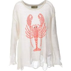 WILDFOX WHITE LABEL lobster print sweater