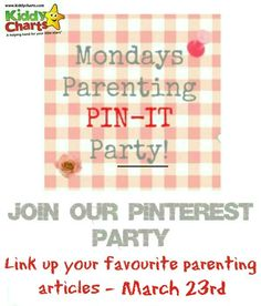 We are back with another week of awesome parenting posts on KiddyCharts...come over and take a look for parenting advice, crafts, and amazing ideas. If you are a blogger, do add your post as well xx