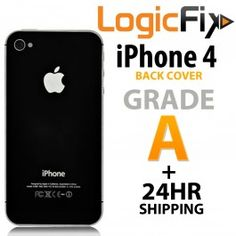 Grade A Quality Back Cover For iPhone 4  Kit Includes: •1 Replacement iPhone 4 Back Cover • Link to Logicfix's YouTube iPhone 4 Back Cover Repair Video