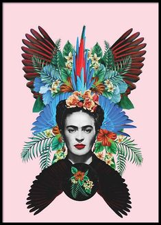 Frida Kahlo Poster in the group Posters & Prints / Illustrations at Desenio AB Frida Kahlo Artwork, Frida Art, Gold Poster, World Famous Artists, Retro Poster, Kunst Poster, Go For It, Online Posters, Mexican Artists