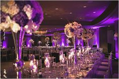 Purple and Silver Wedding by Sassani Photography - 7 Centerpieces7 Centerpieces