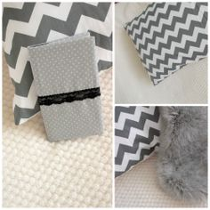 chevron pillow and notebook cover