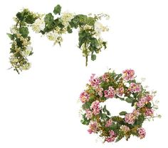 Geranium and Berry 24 Wreath or Garland by Valerie