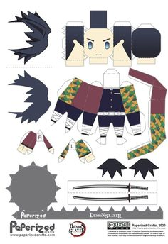 Otaku Anime, M Anime, Anime Demon, Anime Kawaii, Anime Chibi, Anime Diys, Anime Crafts, Figurine Anime, Paper Doll Template