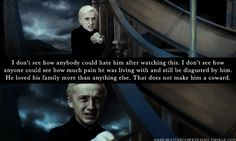 Tom Felton does a wonderful job in this scene. He really made me feel pity for Malfoy for the first time in the series. Bravo!