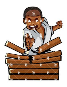 A Black Male Karate Chops A Stack Of Wood:  #activity #african #african-american #american #arts #Asia #asian #athlete #attack #bear #belt #black #blackbelt #boards #body #break #breaking #calm #cartoon #championship #character #chop #clipart #combat #concentration #darryl #defence #defense #determination #development #discipline #drawing #eastern #energetic #entertainment #exercise #fight...