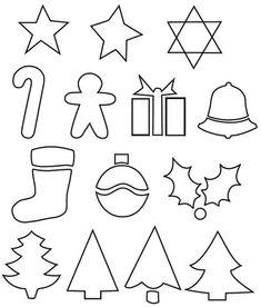 Felt Christmas pattern simple ornament patterns Craft it now oLBAfhtU Christmas Ornament Template, Christmas Templates, Felt Christmas Ornaments, Noel Christmas, Christmas Colors, Christmas Decorations, Christmas Patterns, Ornament Crafts, Simple Christmas