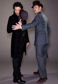 Sherlock Holmes and Protective!Watson (Robert Downey Jr. and Jude Law)
