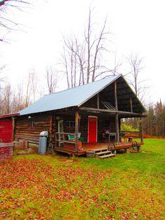 Near Vermont - rustic log cabin.