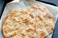 Recipe: Potato & barley flatbreads—Once golden brown, this savoury flatbread becomes a blank canvas for numerous dinners. Just add your favourite toppings and enjoy. Recipes With Barley Flour, Barley Bread Recipe, Bread Dough Recipe, Flour Recipes, Biscuit Recipe, Baking Recipes, Barley Recipes, Healthy Bread Recipes, Veggie Recipes