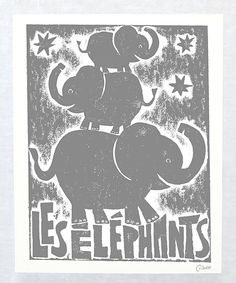 Look at this Granite Gray 'Les Elephants' Autographed Print on #zulily today!