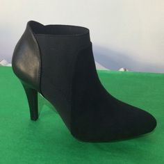 """Closed toe bootie with heel Fabric and elastic. Man made materials. Runs true to size. Never worn. No trades. All sales final. 3"""" heel Madeline Shoes Ankle Boots & Booties"""