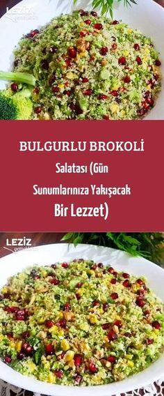 Bulgurlu Brokoli Salatası (Gün Sunumlarınıza Yakışacak Bir Lezzet) Bulgur, Ham, Pizza, Broccoli, Cooking Recipes, Hams