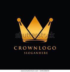 Crown Luxury Design Logo King Vector Stock Vector (Royalty Free) 1595108470 Crown Logo, Vector Stock, Illustration, Royalty Free Stock Photos, Logo Design, King, Luxury, Illustrations