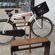STREETLIFE CorTen Bicycle Racks. Urban CorTen bicycle parking facility. #StreetFurniture  #UrbanDesign #BikeRack #CorTen