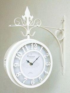doube-face clock Shabby Cic Romantic Cottage <3 <3 <3