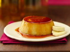 Treat your family to these delicious banana flans – a perfect dessert.