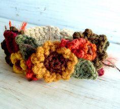 Fall Harvest Sunflower Bracelet in Crochet by meekssandygirl, via Flickr