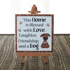 Hey, I found this really awesome Etsy listing at https://www.etsy.com/listing/245379801/this-home-is-blessed-with-love-laughter
