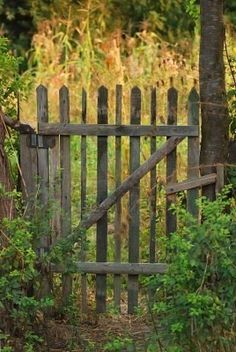 Old Style Garden Gate And Fence..love | Gates | Pinterest | Best Garden Gate,  Gardens And Gates Ideas