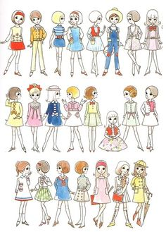 art, drawing, fashion, illustration, retro, vintage