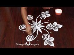 small daily Kolam designs for beginners with 5 dots // easy rangoli designs - YouTube