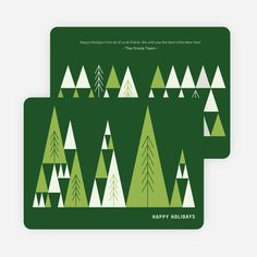 Lush Forest Corporate Holiday Cards from Paper Culture