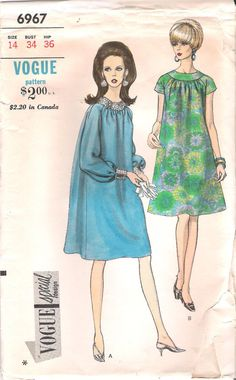 1960's Vogue 6967 Cocktail Dress with Sheer Overlay, Vintage Sewing Pattern, offered on Etsy by GrandmaMadeWithLove