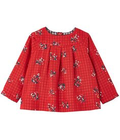 outlet store e37b3 67e12 Blouse bébé fille en tubique imprimé rouge Froufrou   blanc Multico.  Retrouvez notre gamme de