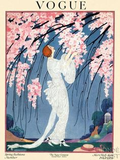 1919 Art Deco Fashion Drawings by Helen Dryden American Artist