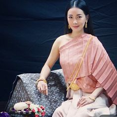 Thai lady in traditional costume.
