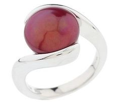 Honora 12.0mm Coin Cultured FreshwaterPearl Sterling Ring