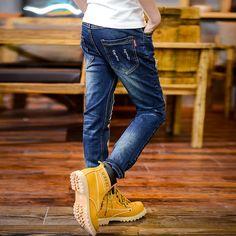 Nuevo Diseño de alta calidad 2016 Otoño Boy Denim Jeans de Moda, Casual Carta de Personaje de Dibujos Animados Pantalones Largos Pantalones Ropa de Niños