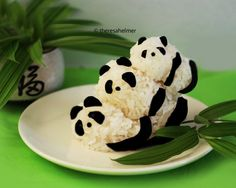 Panda Bear Rice Balls n We Heart Pandas by theresahelmer on deviantART