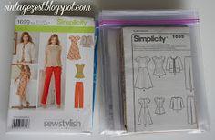 Diane's Vintage Zest!: Sewing Pattern Organization!